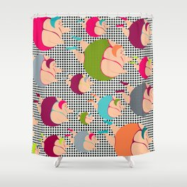 Synchronised Spotty Swimmers Shower Curtain
