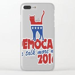 Democat Cat election 2016 parody Clear iPhone Case