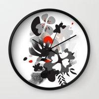 scandinavian Wall Clocks featuring scandinavian nature by Lucja