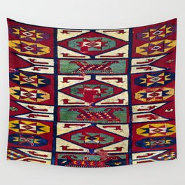 Rug with Star Motifs Wall Tapestry