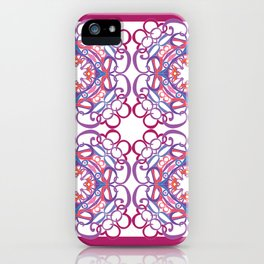 Gender Equality Tiled - Raspberry Purple iPhone Case