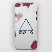 30 seconds to mars iPhone & iPod Skins featuring 30 Seconds of Mars Watercolor by sky0323