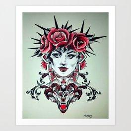 wolfs queen Art Print