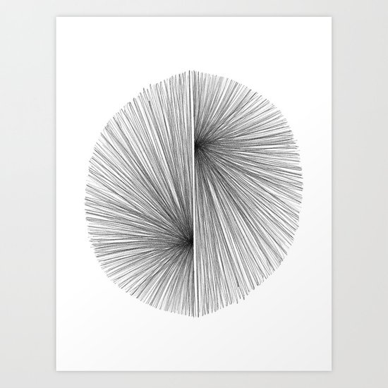 Mid Century Modern Geometric Abstract Radiating Lines by mininst