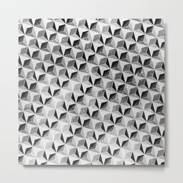 Geometric Monochrome Metal Print