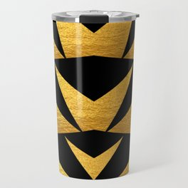 Black and Gold Spikes Travel Mug
