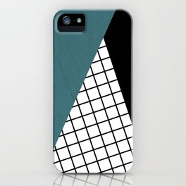 Checkered triangle iPhone Case