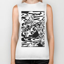 snow and shadow, abstract Biker Tank