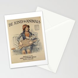 Be Kind To Animals 4 Stationery Cards