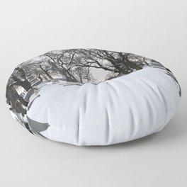 Haunted Winter II Floor Pillow