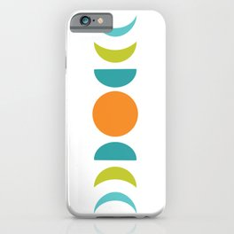 Abstract Moon Phases iPhone Case