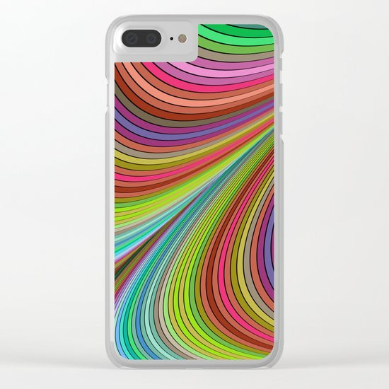 Happy curves Clear iPhone Case