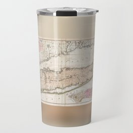 1842 Map of Long Island, New York Travel Mug