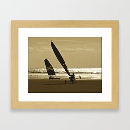 Yachting Chars à voile Framed Art Print
