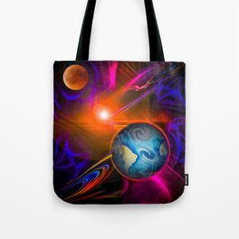 Full moon - Fascination Blood moon - Abstract Tote Bag