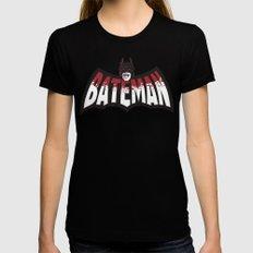 BATEMAN Womens Fitted Tee MEDIUM Black