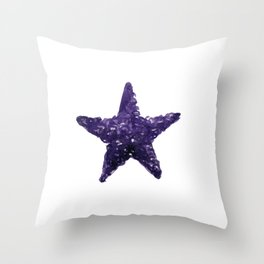 Purple Watercolour Star, Watercolor, Nursery decor, New Baby Gift, Fine art painting Throw Pillow