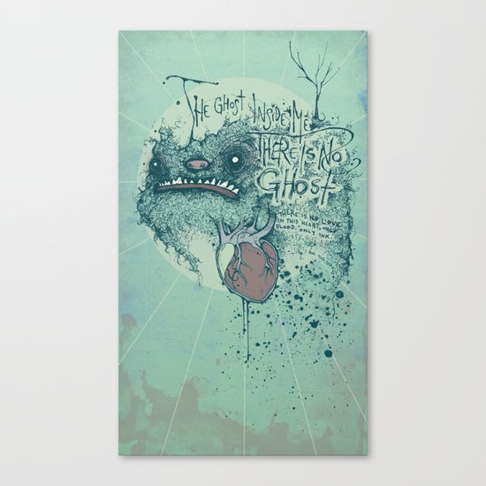 Ghost inside Canvas Print