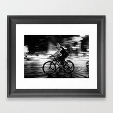 Lady Speed Stick Framed Art Print