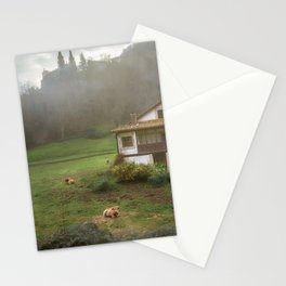 Pastoral landscape Stationery Cards