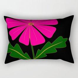 Big Pink Flower Rectangular Pillow