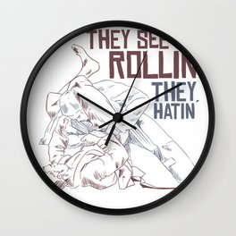 They See Me Rollin Wall Clock