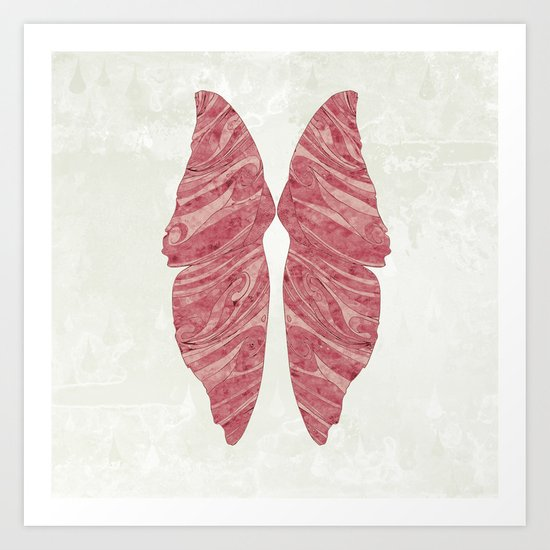 Abstract Butterfly Wings Design Art Print