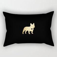 French Bulldog Gold Rectangular Pillow