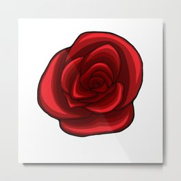 Rich Red Rose Metal Print