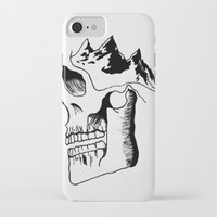 three of the possessed iPhone & iPod Cases featuring Possessed by the Mountains by Le Bureau Noir Studio