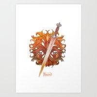 Weapon inscribtions Art Print