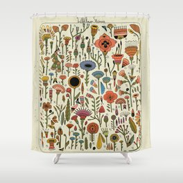 Wildflower Chart Shower Curtain
