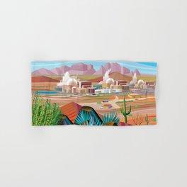 Power Generating Station in Desert Hand & Bath Towel