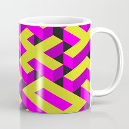 Maze Background with Different 3D Objects Coffee Mug