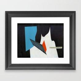 perseverare diabolicum Framed Art Print
