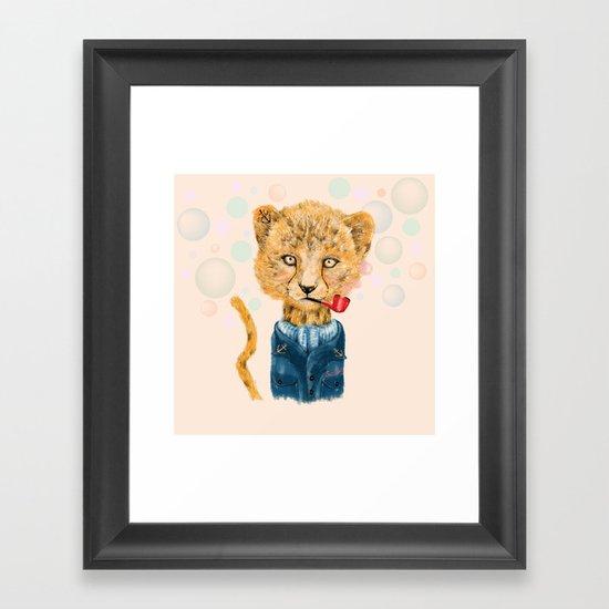 Cheetah Sailor Framed Art Print