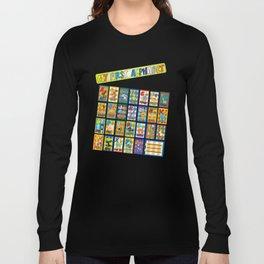 animal alphabet for kids Long Sleeve T-shirt