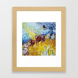 Farm Animals Protected by Saint Brigid of Kildare Framed Art Print