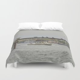Cormorants on the Greasy Pole Duvet Cover