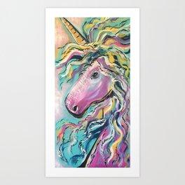 Fabulous Rainbow Unicorn Art Print