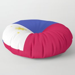 Philippines flag emblem Floor Pillow