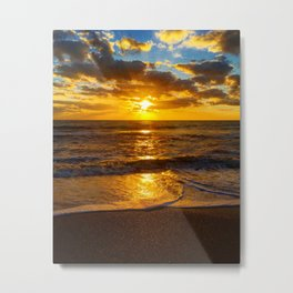 Golden Sunrise Metal Print