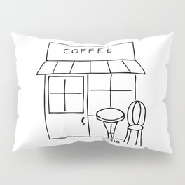 Little Coffee House // Cafe Sketch Pillow Sham