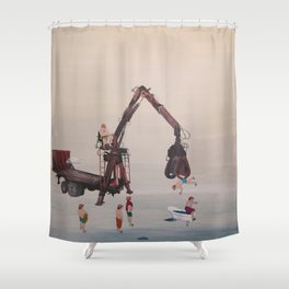 the shower Shower Curtain