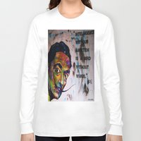 salvador dali Long Sleeve T-shirts featuring Salvador Dali by Ruby Chavez