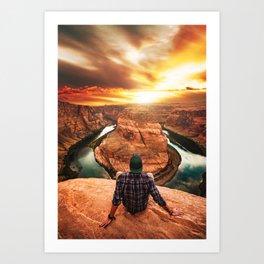 on top of canyonlands Art Print