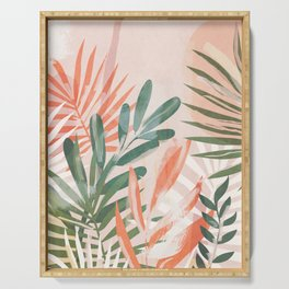Tropical Leaves 4 Serving Tray