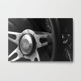 '83 Vette Steering Wheel Metal Print