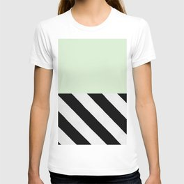 PARALLEL_LINES_GREEN_MINT T-shirt