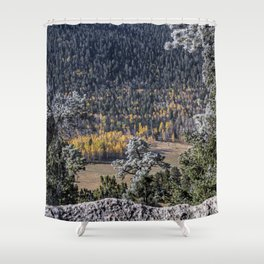 Gold in the Valley Shower Curtain